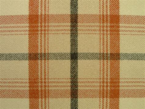 tartan curtains balmoral autumn wool effect washable thick tartan curtain