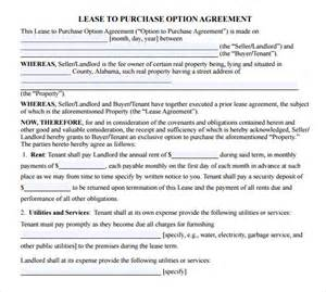 Lease Agreement With Option To Buy Template 9 lease purchase agreements free sample example format