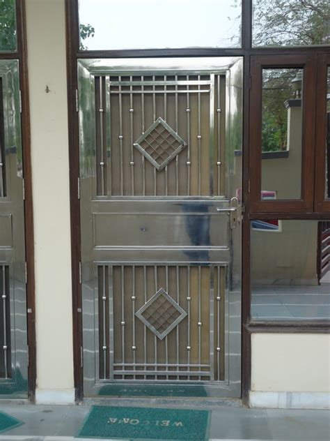 Home Design Exterior App stainless steel single gate in 17 mathura road