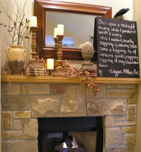 Mantle Decoration by Wip Autumn Mantel Decor Ideas