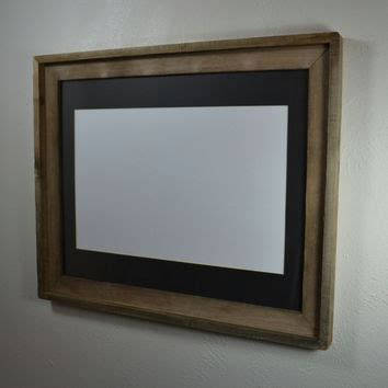 11x17 Mat For 16x20 Frame by 11x14 Wood Frame With Mat Great From Barnwood4u