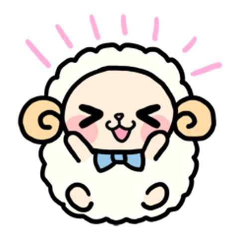 Stamp On Right Or Left by Kawaii Animals Line Creators Stickers