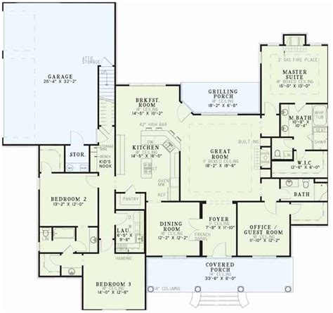 home floor plans no garage 4 bedroom house plans one story no garage best of e story