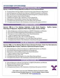 Sample Charity Letter Template 2011 health fair sponsorship proposal