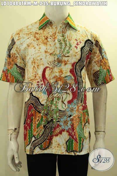 Bahan Batik Halus Motif Sinaran Cendrawasih Toska Batik Pekalongan koleksi terbaru kemeja batik pria lengan pendek bahan adem proses tulis remekan pakaian batik