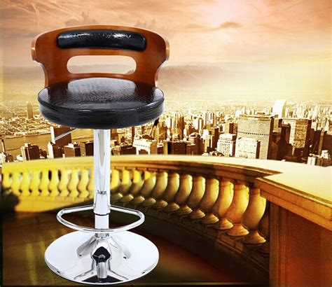 2015 wholesale luxury high end industrial bar stool with luxury wooden leather metal furniture industrial bar