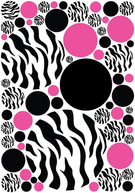 zebra print stickers for walls medium zebra print pink and black dots wall stickers