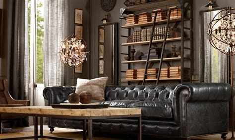 restoration hardware living rooms the traveling merchandiser getting that restoration