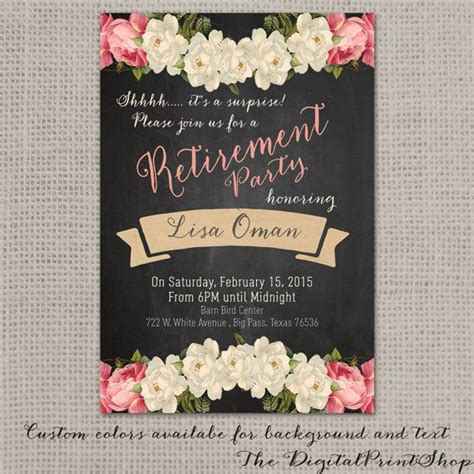 free printable retirement party decorations 1000 ideas about retirement invitations on pinterest