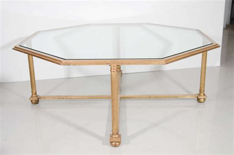 Octagon Coffee Table Octagonal Gilt Coffee Table With Glass Top For Sale At 1stdibs