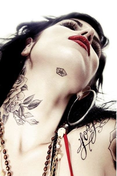 tattoo healing kat von d love this tattoo location on the neck under the chin