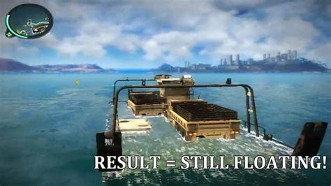 car boat just cause 3 just cause 2 how many vehicles can the barge hold youtube
