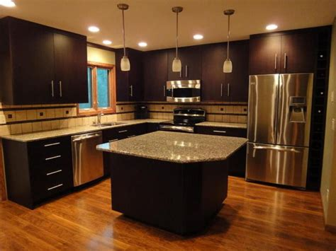 kitchen decorating ideas dark cabinets the wall the walnut cabinet u shape kitchen cabinet kitchen colors with