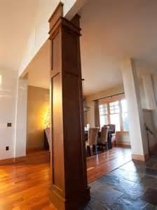 Interior design ideas incorporating columns into spacious room design
