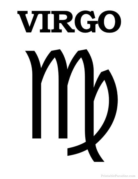 virgo color 13 best printable signs of the zodiac images on pinterest