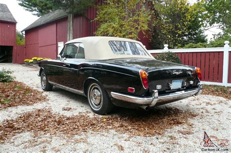 bentley corniche convertible 1973 bentley corniche convertible mason black tan hides