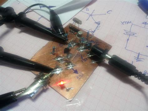 colpitts crystal oscillator electronics lab