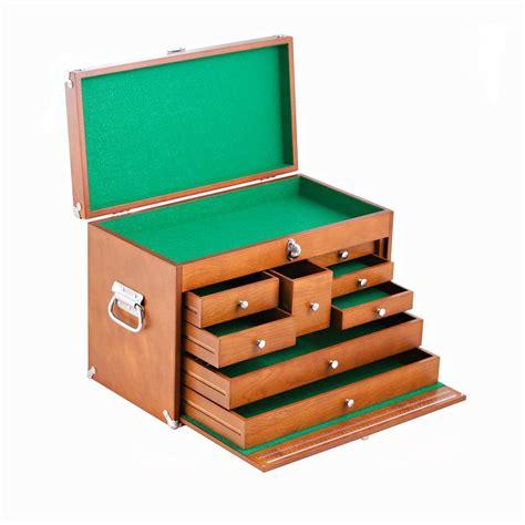 8 Drawer Tool Box by 21 In 8 Drawer Wood Tool Box Brown Twm 3501