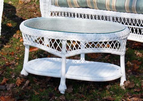 White Wicker Coffee Table Outdoor Wicker Coffee Table Cape Cod Rectangular