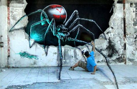 Murah 3d Wall L Decoration Spyder attack of the spider this optical illusion mural come to urbanist