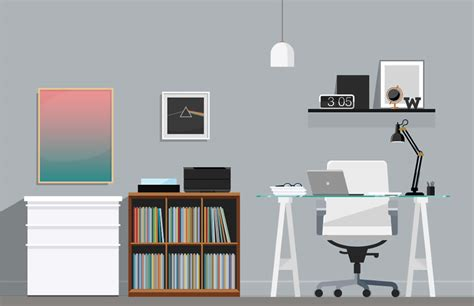 cool home offices cool home office illustrations