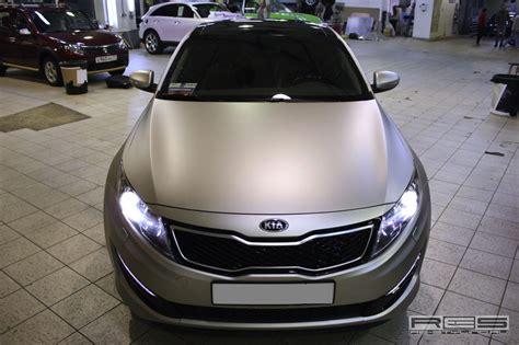 Matte Black Kia Optima Kia Optima Gets Matte Wrap In Russia Autoevolution