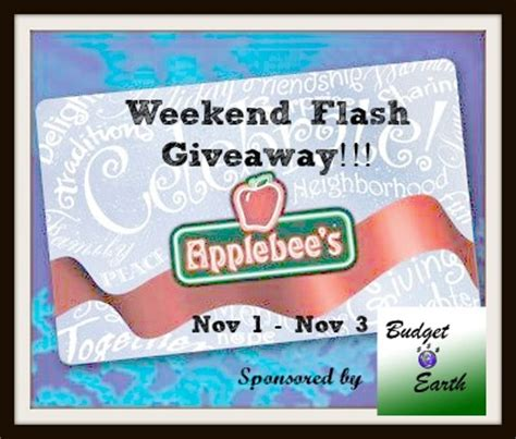 Applebee S Gift Card Good Anywhere Else - applebees gift card weekend flash giveaway the bandit lifestyle