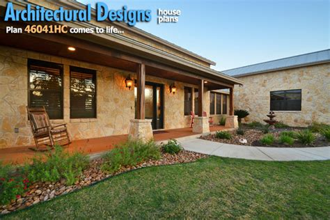 hill country home with porch by