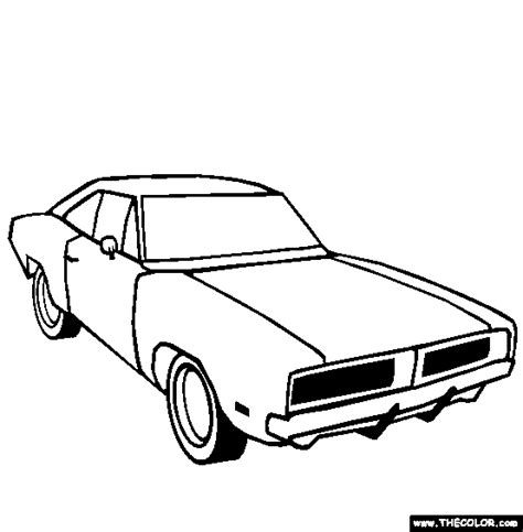 1969 Dodge Challenger Coloring Page Free 1969 Do Dodge Charger Para Colorir