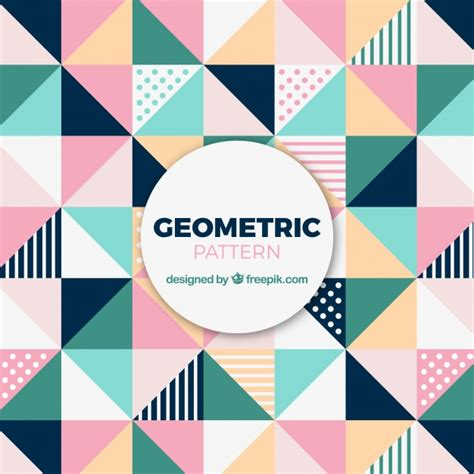 geometric pattern freepik cute pattern of colored triangles vector free download
