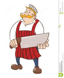 House Plans Designers butcher with big knife stock image image 34702841