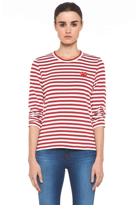 Comme Des Garcons Available At Topshop by Comme Des Gar 231 Ons Striped Sleeve Emblem In