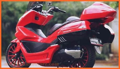 Pcx 2018 Hitam Modif by Modifikasi Pcx 2018 Merah Modifikasimotorz