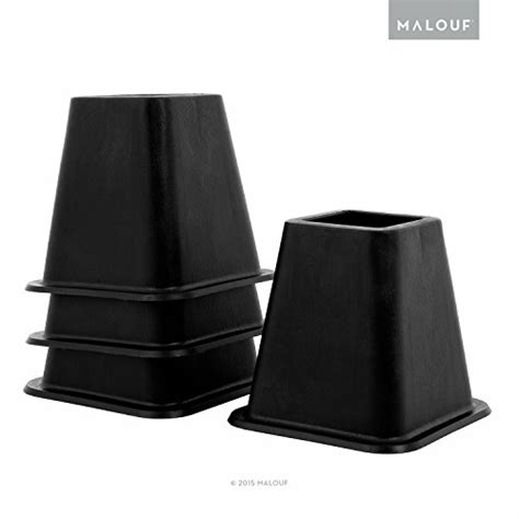 heavy duty bed risers structures 6 inch heavy duty bed risers set of 4 black