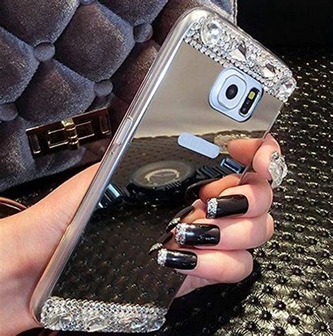 Samsung Galaxy S6 Edge Plus Mirror Soft Cover Sarung Keren Mewah for galaxy s6 edge plus jandm hybrid glitter bling soft shiny sparkling with glass