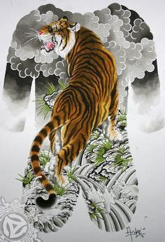 japanese tattoo zürich tiger art decor quot mountain tiger quot tiger hand painting