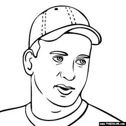 Online Coloring Pages Starting With The Letter P Page 4 Peyton Manning Coloring Pages