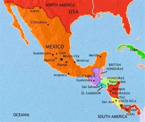 map of mexico and south america mexico and central america 1914 ce