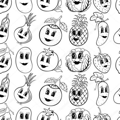 imagenes de verduras a blanco y negro conjunto de 10 frutas y verduras de blanco y negro de