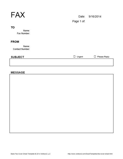 Fax Cover Sheet Template Open Office by The Basic Fax Cover Sheet From Vertex42 Places To Visit The O Jays