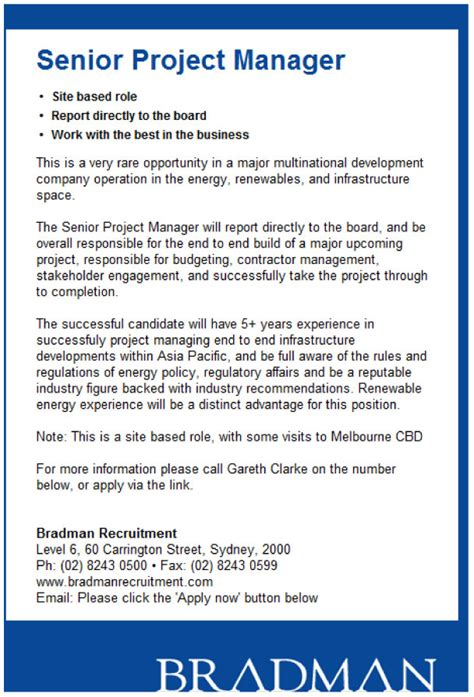 senior project manager resume senior project manager