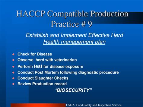 haccp test ppt food safety and antimicrobial residues in food