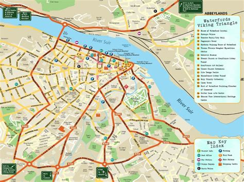 map of waterford city map of waterford