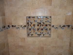 tile shower shelves bathroom traditional