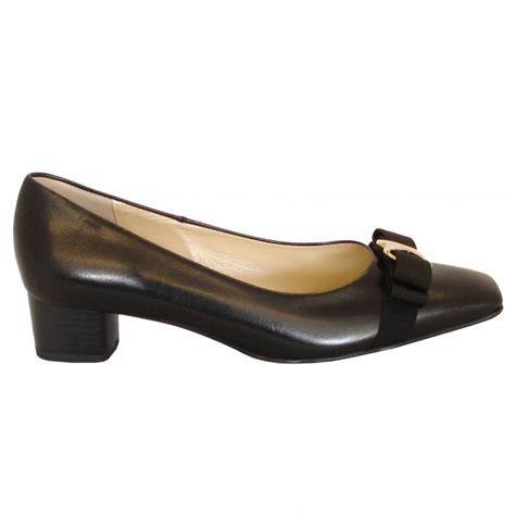 low heel shoes kaiser balla black leather court shoes low heel