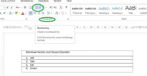 urutan langkah langkah membuat npwp pribadi secara manual membuat nomor urut secara otomatis pada word anugerah dino