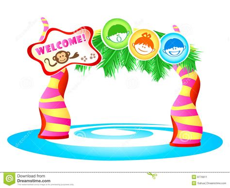 themes for children s clothing kids theme park stock vector image of excited decorated