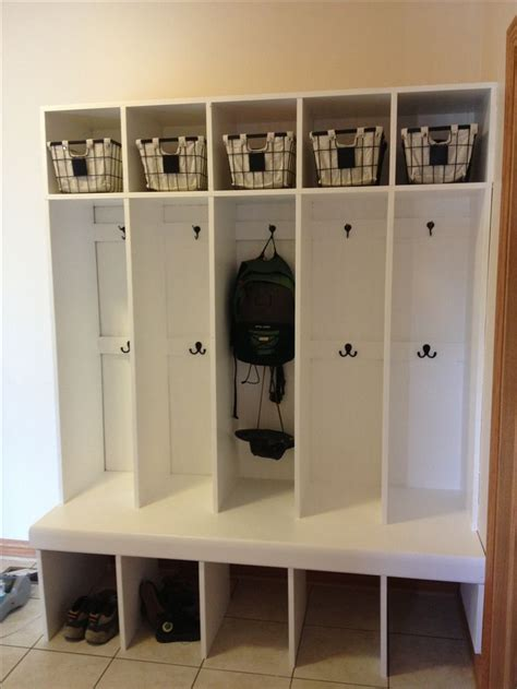 mudroom locker system built   weekend