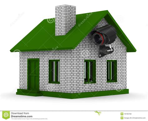 video camera for house security camera on house isolated 3d royalty free stock photos image 19135758