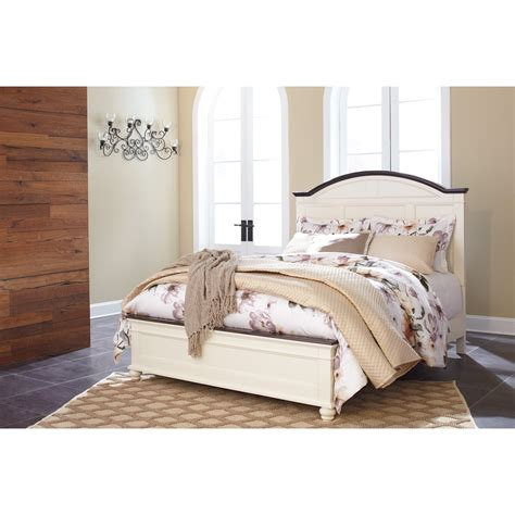 Signature Design Bedroom Set Signature Design By Woodanville Panel Bed With Arched Headboard Household